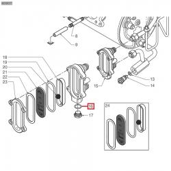 Уплотнительное кольцо фторопластовое ø 18x14x1,5 мм, 401250010