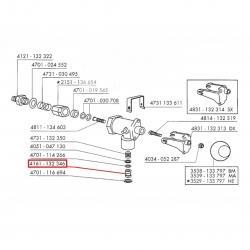 Уплотнитель конусный трубки пара/горячей воды ø 15x7.5х10.3 мм PTFE, 4161132346