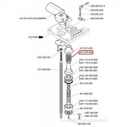 Отпускная пружина поршняø 33x37 мм, 461079000