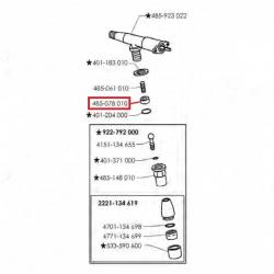Уплотнитель конусный трубки пара/горячей воды ø 14,5x7x6 мм, PTFE, 485078010