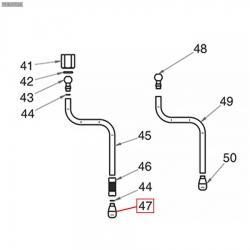 Паровая форсунка отв. 1,3мм из нержавеющей стали Nuova Simonelli, 75006038