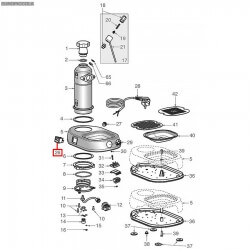 Выключатель двухполюсный 16A 250В, 22x30 мм, 120°C, 5026971