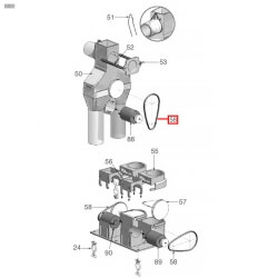 Уплотнитель OR 03200, ø 55,71x50,47x2,62 мм, EPDM, 3186245