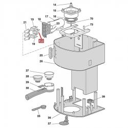 Выключатель однополюсный с фиксацией 16А 250В 20x13 мм, Delonghi, 5132100700
