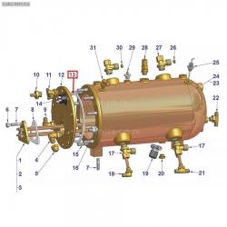 Уплотнитель бойлера San Marco ø 165x150x3 мм, 528133