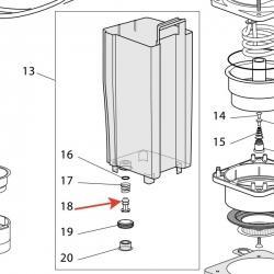 Клапан-поршень для резервуар для воды, 5332109000
