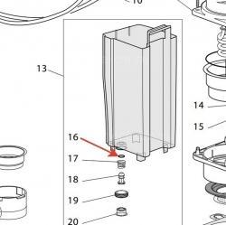 Уплотнитель клапана для кофеварки Delonghi, 5332173500