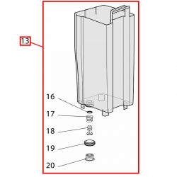 Контейнер воды для кофеварки Delonghi EC EC145-EC155, 5513200929
