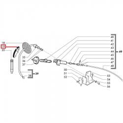 Термозащитная ручка паровой трубки Saeco, 9161.055.710