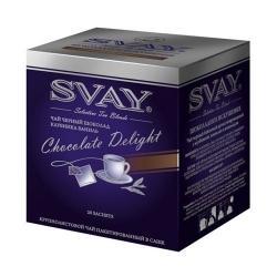 Чай Svay Шоколадное искушение, черный с шоколадом, в саше, 20х2 г