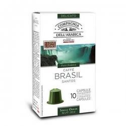 Капсулы для Nespresso, кофе Dell Arabica Brasil Santos, 10 шт