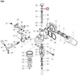 Уплотнитель плоский ø 28x23x2 мм PTFE, 109061