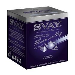 Чай Svay Лунная долина, черный с чабрецом и васильком, в пир-ах, 20х4 г