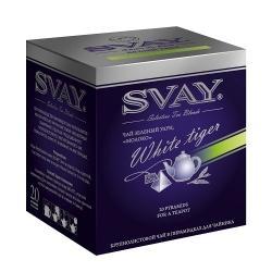 Чай Svay Белый тигр, зелёный Улун, в пирамидках, 20х4 г