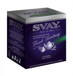 Чай Svay Яркие фантазии, чай зеленый маракуйя-цитрусовые, в пирамидках, 20х4 г