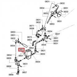 Электромагнитный клапан Jura, Bosch, Siemens, 63513