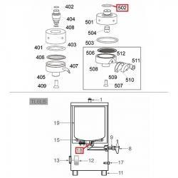 Уплотнитель 3.53 - ø 18.64 мм, силикон, 467010