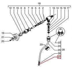 Форсунка паровой трубки E61 Faema, 4158135926