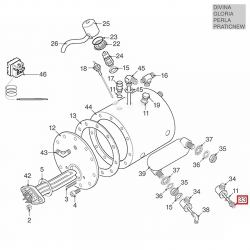 """Трубка инжекторная теплообменника 1/4""""-1/4"""", ø 6 мм- 80 мм, 25686001"""