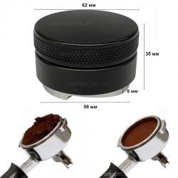 Пуш темпер разравниватель рельефный, черный ø 58 мм, 911611