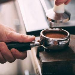 Темпер для кофе белая аллюминевая ручка, основание-сталь Ø 58 мм, 1385733С