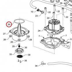 Уплотнитель алюминиевого бойлера алюминиево, кофеварки Saeco Poemia, 140325962