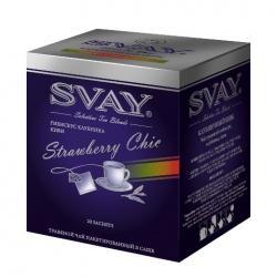 Чай Svay Клубничный шик, гибискус клубника-киви в саше, 20х2 г